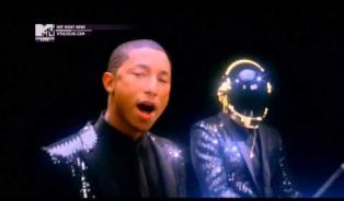 Embedded thumbnail for Daft Punk ft. Pharrell Williams - Get Lucky (Official MTV Video)